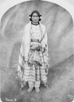 """""""Daughter of Cacique - Taos - 1871  {Note: Cacique is a Spanish term for a political leader.}"""" https://www.facebook.com/photo.php?fbid=10150174365745578=a.10150174363695578.419045.10150102703945578=3"""