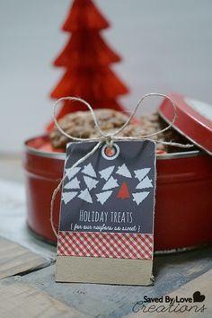 Christmas Holiday Neighbor Treat Bags + Printable Tags — Saved By ...