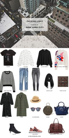 853784685a5 What to Pack for 5 Days in New York City Packing Light List