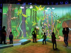 Connected Worlds, an installation at the New York Hall of Science, teaches kids about environmental science by immersing them in it.