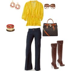 It's nowhere near fall, but this is such a cute fall look!