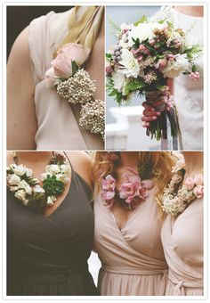Love the floral necklaces