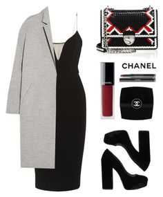 """""""I like my money right where I can see it... hanging in my closet. """" by baludna ❤ liked on Polyvore featuring Prada, Victoria Beckham, Rochas, Chanel and La Femme"""