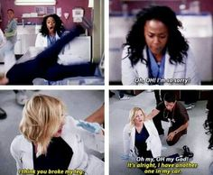 Day 20: scene that made you laugh: it's impossible to pick just one funny scene of greys. This one was definitely a good one. I loved how Arizona was so nonchalant about the whole thing, meanwhile Stephanie is just freaking out.