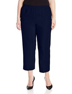 Alfred Dunner Womens Plus Short Pant Blue 18W * Click image for more details.(This is an Amazon affiliate link and I receive a commission for the sales)