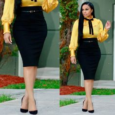 how to wear pencil skirt Pencil Skirt Casual, Pencil Skirt Outfits, Pencil Dresses, Pencil Skirts, Corporate Wear, Fashion Wear, Skirt Fashion, Fashion Outfits, Workwear Fashion