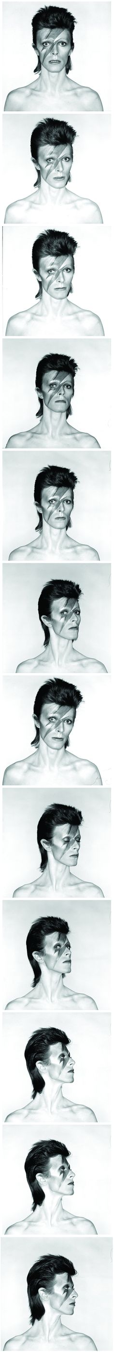 "David Bowie's ""Aladdin Sane"" Photo-shoot by Brian Duffy, 1973"
