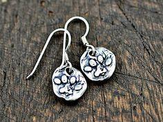 Dog Earrings - Puppy Paw Earrings - Dog Paw Earrings - Dog Paw Jewelry -   Silver Earring - Cowgirl Jewelry
