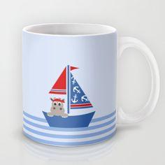 Nautical mug for kids on #society6 by Limitation Free