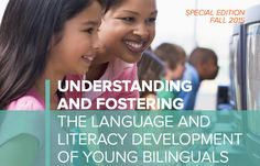 This white paper presents a summary of key findings and patterns of early bilingual development and  separates common myths from scientific findings about childhood bilingualism. When carefully analyzed, the  research often contradicts common beliefs—or myths—held by many, including parents, general educators,  education specialists and other professionals who work with young children (e.g., doctors, speech-language  pathologists), and educational policymakers.