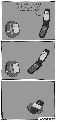 Smartwatch vs. Flip Phone
