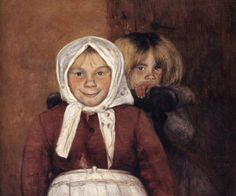 Vinnar's brother and sister, 1898 - by Hugo Simberg - Finnish Planes Of The Face, Amber Tree, Different Kinds Of Art, Beauty In Art, Female Art, Art Pictures, Watercolor Art, Art Drawings, Illustration Art