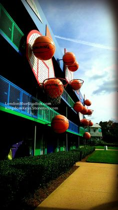 Disney's Hoops Hotel at the All Star Sports Resort in Orlando, FL - Walt Disney World - KingdomKeys5571.Tumblr.com