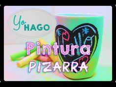 DIY. COMO HACER PINTURA DE PIZARRA. (chalk paint) - YouTube