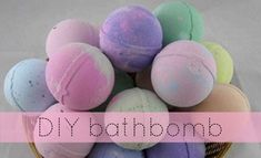 Make your own bath bombs. #Pastel #DIY