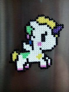 Unicornio hecho con hama beads mini