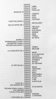 Espèces d'espaces, Georges Perec