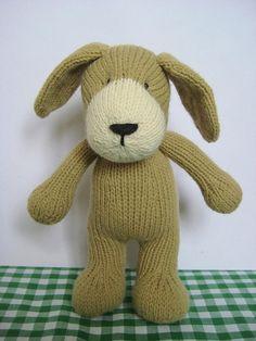 Puppy Toy Knitting Pattern on Luulla