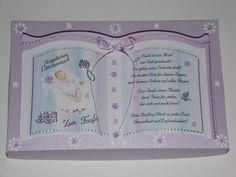 Geschenkbuchkarte - Glückwunschkarte -  Taufe  inkl. Spruch - Geldgeschenkbox