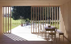 Haus am Moor is a minimalist house located in Krumbach, Austria, designed by Bernardo Bader Architects. Contemporary Barn, Contemporary Architecture, Architecture Design, Outdoor Spaces, Outdoor Living, Modern Barn House, Wooden House, Interior Exterior, Minimalist Home