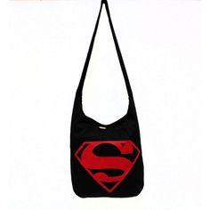 Superman Logo Graphic Tote Messenger Bag ($20) ❤ liked on Polyvore featuring bags, messenger bags, messenger bag, courier bag, white bags and white messenger bag