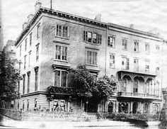 The first dinner of The Lambs was held here, on the NE Corner of Avenue and Street. Clubhouses, 5th Avenue, Lambs, Past, Corner, Street View, Restaurant, America, Past Tense