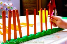 play dough number line...do as a whole table or in partners up to....