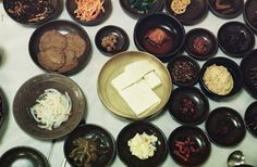 Banchan, or yummy side dishes in Seoul, Korea!
