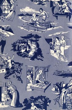 Endpapers from Nancy Drew, 1961 — My favorite detective! ;^)