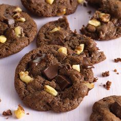 Chocolate Chunk Mocha Cookies combine two of our favorite flavors for a sweet treat.