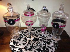 Black fuchsia damask hot pink wedding decor items by KelleyM1021, $375.00