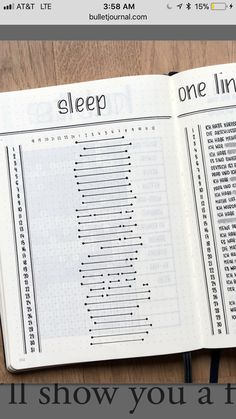 sleep tracker Bullet journal layout ideas and bullet journal inspiration, bullet journal doodles, bullet journal covers Bullet Journal Tracker, Bullet Journal School, Planner Bullet Journal, Bullet Journal Notebook, Bullet Journal Spread, Bullet Journals, Bullet Journal Index Layout, Bullet Journal Design Ideas, Minimalist Bullet Journal Layout