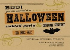 Modern Halloween Party Invitation
