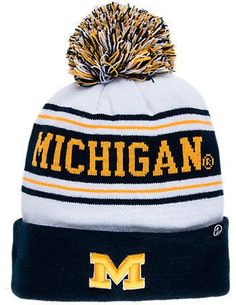 5284c4a345d Zephyr Michigan Wolverines College Arctic Knit Hat