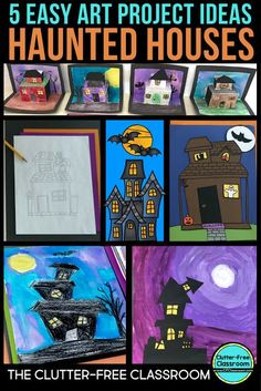 These Halloween craft project ideas for kids are fun and easy, but look amazing on display. This blog post shows examples of October craft projects kids can make using crayons, water colors, paper piecing and more.