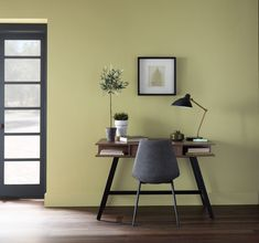 What's new for paint trends in A return to our ancient, earthy roots—at least if you ask Behr Paint. For the paint company has crowned Back to Na Behr Paint Colors, Interior Paint Colors, Room Interior, Interior Design Living Room, Wall Colors, House Colors, Family Room Walls, Dining Room Walls, Vintage Office Chair