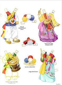 Korean Girl and Boy Paper Dolls by Yuko Green of Dover Publications Korean Crafts, Diy And Crafts, Paper Crafts, Thinking Day, Korean Art, Vintage Paper Dolls, All Paper, Boy Doll, Planner