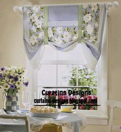 Cortina  Cortinas Lindas Y Sencillas  Pinterest  Kitchen Awesome Unique Kitchen Curtains Review