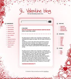 Valentine WordPress Themes by Di Beautiful Love Stories, Love People, Wordpress Theme, Love Story, Valentines, Website, Day, Blog, Valentines Day
