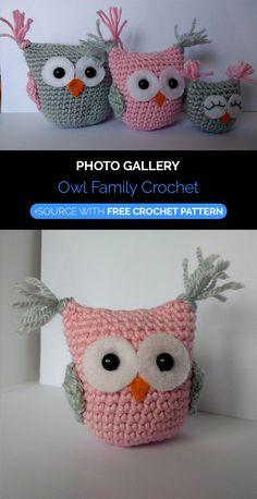Crochet Owl Pillows, Crochet Owls, Cute Crochet, Crochet Animals, Knit Crochet, Crochet Children, Crochet For Kids, Owl Patterns, Amigurumi Patterns
