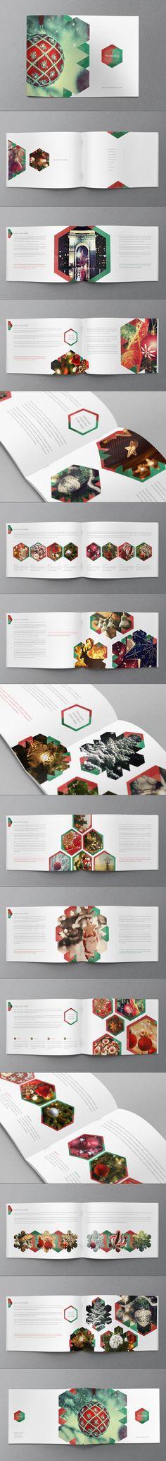 Christmas brochure design template.