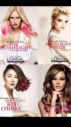 The new SS14 looks from L'oreal professional