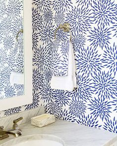 Stunning wallpaper via Katie Kime
