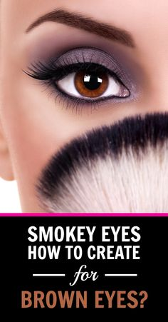 How to create smokey eyes for brown eyes smokey eye makeup tutorial, smoky eye makeup Smokey Eye Makeup Look, Smokey Eye For Brown Eyes, Smokey Eye Makeup Tutorial, Hooded Eye Makeup, Natural Eye Makeup, Blue Eye Makeup, Eye Makeup Tips, Makeup For Brown Eyes, Makeup Looks