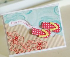Vacation Flip Flops Card by Betsy Veldman for Papertrey Ink (May 2012)