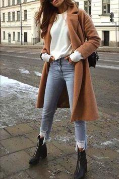 Boho Fashion Winter - mode winter - neuBoho Fashion Winter - mode winter - looks com sobretudo para aquecer seus looks de looks com sobretudo para aquecer seus looks de invernoBabyghost Fall / Winter Clothing - Fashion Shows Spring Outfits For Teen Girls, Winter Outfits For Work, Winter Outfits Women, Outfits For Teens, Outfit Winter, Korean Winter Outfits, Ootd Winter, Stylish Winter Outfits, Winter Shoes For Women