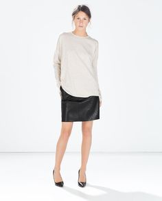 OVERSIZE BOAT NECK SWEATER from Zara  perf