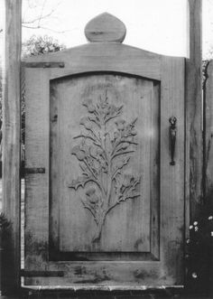 Beautifully carved Thistle Gate
