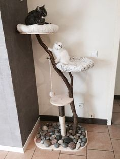 Arbre à chat DIY (pour les radins comme moi) Diy Cat Tree, Cat Towers, Cat Condo, Cat Furniture, Diy Stuffed Animals, Pet Accessories, Fur Babies, Your Pet, Dog Cat