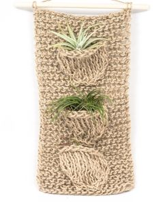 Love the texture of this plant holder, holds up to 3 plants.